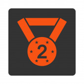 Second medal icon from Award Buttons OverColor Set — Stock Photo