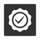 Valid icon from Award Buttons OverColor Set — Стоковое фото