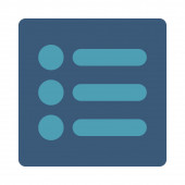 Items flat cyan and blue colors rounded button — Stock Photo