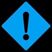 Error flat blue color icon — Stock Photo