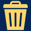 Trash Can flat yellow color icon — Stock Photo #78310106