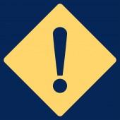Error flat yellow color icon — Stock Photo