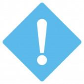 Error flat blue color icon — Foto Stock