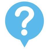 Status flat blue color icon — Stock Photo