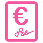 Contract icon from BiColor Euro Banking Set — Stock Photo