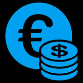 Dollar coin stack icon from BiColor Euro Banking Set — Stock Photo