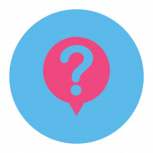 Status flat pink and blue colors round button — Stock Photo