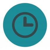Klok plat zachtblauw kleuren ronde knop — Stockfoto