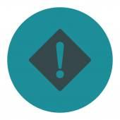 Error flat soft blue colors round button — Stock Photo