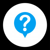 Status flat blue and white colors round button — Stock Photo