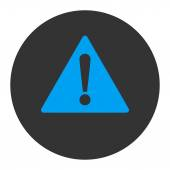 Waarschuwing platte blauwe en grijze kleuren ronde knop — Stockfoto