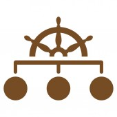 Rule icon from Business Bicolor Set — Stock Photo