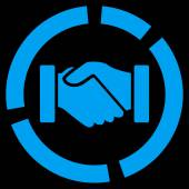 Acquisition diagram icon from Business Bicolor Set — Stock Photo