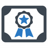 Certificate icon from Business Bicolor Set — Stock Photo