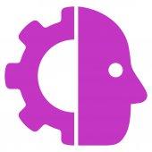 Cyborg icon — Stock Vector
