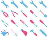 Equipment and Tools Icons — Stock Photo