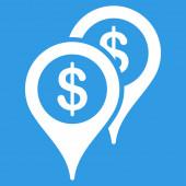 Bank Places icon — Stock Photo