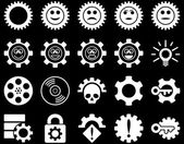 Tools and Smile Gears Icons — Stock Photo