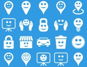 Verktyg, alternativ, leenden, objekt ikoner — Stockfoto