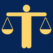Lawyer icon — Stock Photo