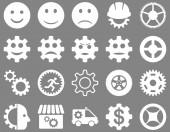 Tools und Lächeln Gears Icons — Stockfoto