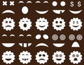 Tool, gear, smile, emotion icons — Stock Photo