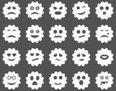 Gear känslor ikoner — Stockfoto