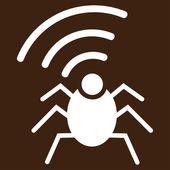Radio spy bug icon from Business Bicolor Set — Vecteur