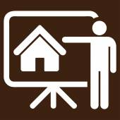 Realtor icon from Business Bicolor Set — Stock Vector