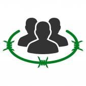 Strikt förvaltning ikonen från Business Bicolor ange — Stockvektor
