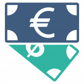 Banknotes icon from Business Bicolor Set — Stock Photo