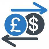 Money Exchange icon from Business Bicolor Set — Stock Photo