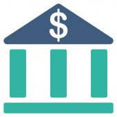 Bank icon from Business Bicolor Set — Stock Photo