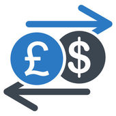Money Exchange icon from Business Bicolor Set — Stock Vector