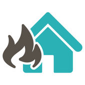 Fire Damage icon from Business Bicolor Set — Stock Vector