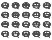 Chat emotion smile icons — Stock Vector