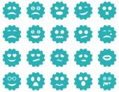 Gear emotion icons — Stock Vector