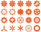 Tools and Smile Gears Icons — Stock Vector