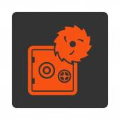 Hacking theft icon — Stock Vector