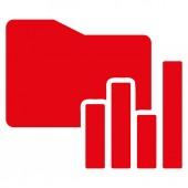 Icône de dossier de cartes d'affaires définis Bicolor — Photo