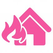 Fire Damage icon from Business Bicolor Set — Stock Photo