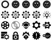 Araçlar ve gülümseme Gears simgeler — Stok fotoğraf