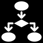Flowchart Icon from Commerce Set — Stock Photo