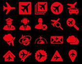 Aviation Icon Set — Stock Vector