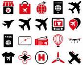 Airport Icon Set — Stock Vector