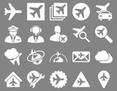 Aviation Icon Set — Stock Photo