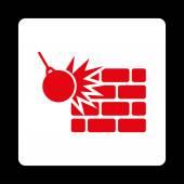 Destruction icon — Stock Photo