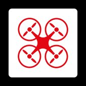 Nanocopter icon — Stock Photo