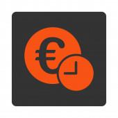 Euro credit icon — Stock Photo