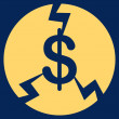 Financial Crash Icon from Commerce Set — Stock Photo #79293620